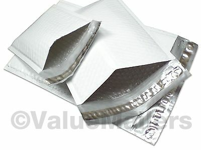 "100 (Poly) #1 7.25""x12"" Bubble Mailers Padded Envelopes Airjacket Brand"
