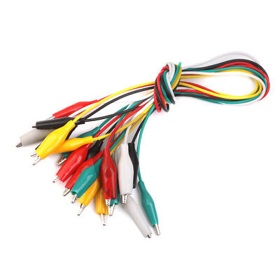 10pcs 50cm Double-ended Crocodile Cable Alligator Clips Jumper Wire Testing