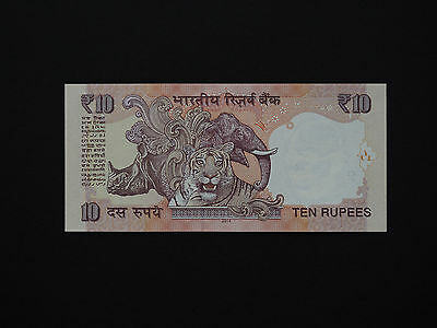 India  Banknotes  -  Classic Tiger 10 Rupees Note    *  Mint Unc  *