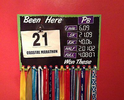 Runners Medal Display with Changeable Pbs