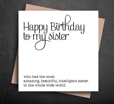 Funny Happy Birthday Cards Sister Best Comedy silly Cheeky Amazing Beautiful B35