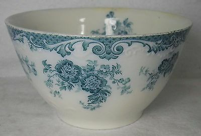 "ALFRED MEAKIN china GLENMERE Blue-Green Round Bowl 6-1/8"" diameter x 3-3/8"" tall"