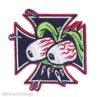 Eyes Cross Embroidered PATCH Poster Art Kozik KP14 Roth Like