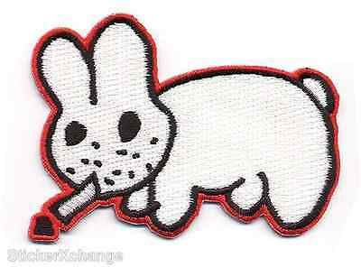 Smokin Bunny Embroidered Patch Poster Artist Kozik KP12