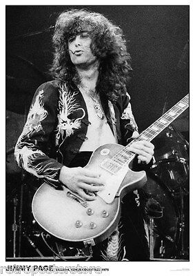 Jimmy Page Led Zeppelin- Retro Poster Size 84.1cm x 59.4cm - approx 34''x 24''