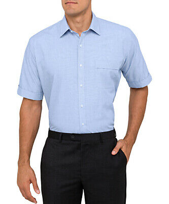 Van Heusen Polyester/Cotton End On End Classic Fit Shirt S/S (B102)
