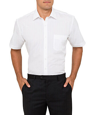 Van Heusen Polyester/Cotton Solid Dyed Poplin Classic Fit Shirt S/S (B101)