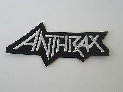Anthrax White Logo Thrash Metal Embroidered Patch