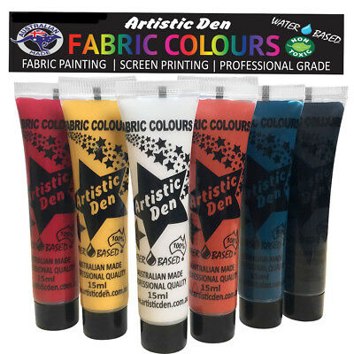Fabric Paint Indigenous Fabric Printing Textile Paint 6 x 15ml By Artistic Den