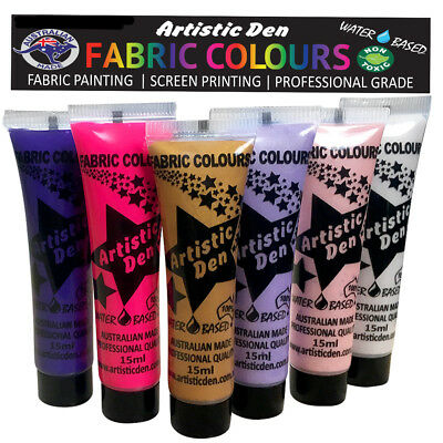 Fabric Paint Fantasy Fabric Printing Textile Paint 6 x 15ml By Artistic Den