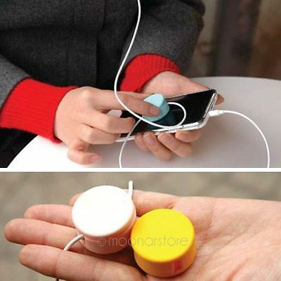 Headphone Earphone Cable Cord Winder Organizer Wire Holder Phone Screen Cleaner