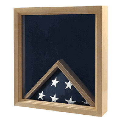 Navy Flag And Medal Display Case Navy Shadow Box Hand Made By Veterans