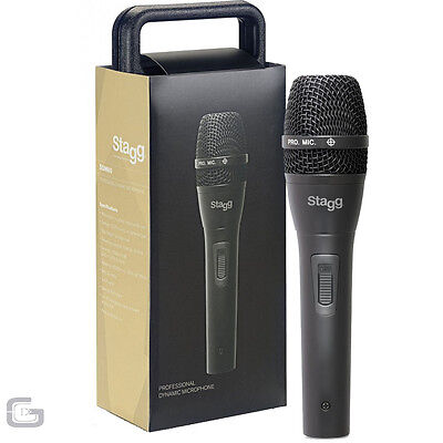 Stagg Sdm80 Professional Cardioid Dynamic Handheld Wired Microphone W/ Cable