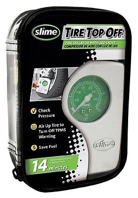 Slime 40020 Tire Top Off Inflator check pressure and inflate  LED light  New ...