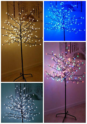 5/6Ft Large Lightup Christmas Tree Led Cherry Blossom Indoor Outdoor Decoration