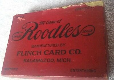 Vintage - The Game Of Roodles - 1912 - Flinch Card Co. - Kalamazoo,mi