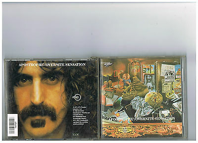 Frank Zappa Cd Apostrophe Overnite Sensation Rare Early Ryko