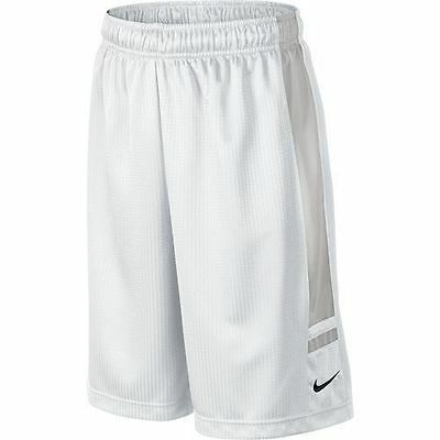 Nike Boy's Franchise Basketball Shorts Dri-fit White Gray Size XL NWT