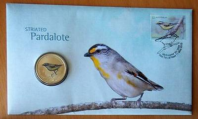 Australian Pardalote - Striated - 2013 Pnc Stamp & $1 Coin Covers