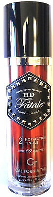 HD Fatale Hot Tingle 20X Step 2 Bronzer Tanning Bed Lotion By California Tan