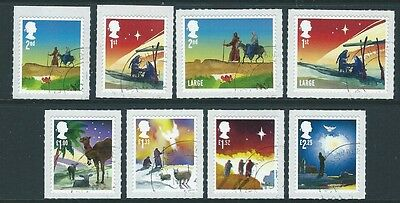 Great Britain 2015 Christmas Set Of 8 Self Adhesive Fine Used