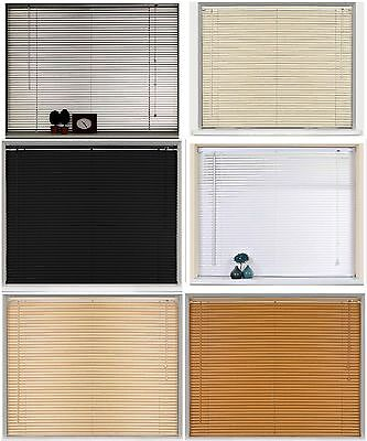 New PVC Blinds Window Venetian Easy Fit Blinds Home Office Wood Effect All Sizes