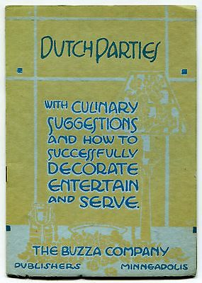 "Vintage ""BUZZA COMPANY"" Entertainment Booklet: ""DUTCH PARTIES"""