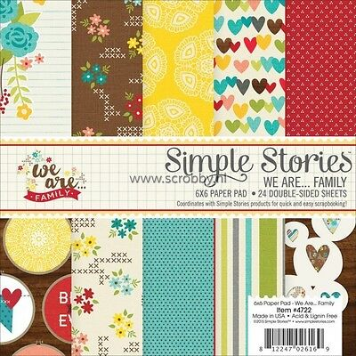 Simple Stories 4722 Paper Pad 6X6 We Are Family