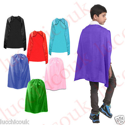 Childrens Super Hero Cape Comic Book Avenger Poncho Boxers Robe Fancy Dress