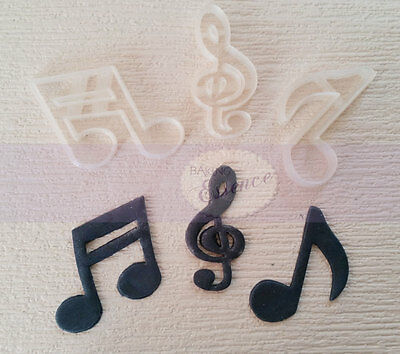 Music note cookie cutters fondant cake UK seller