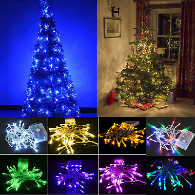 20-80 LED Fairy Lights Battery Power Operated Christmas Lamps Home Party Décor