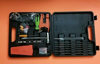 "Chainsaw Repair Tool Kit,w/Toolbox,Chainsaw Wrench,6""Flat File,Mini Screwdriver"