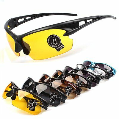 Driving Cycling Fishing Sunglasses UV400 HD Sports Night Vision Glasses Eyewear