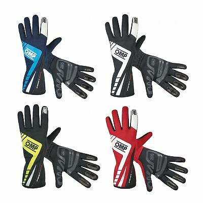 OMP First Evo FIA Approved Nomex / Leather Race / Rally Gloves
