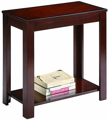 Crown Mark Pierce Chair Side Table, Espresso by Crown Mark 7710 BRAND NEW