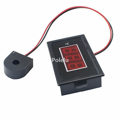 C85A Digital Red Display AC Ammeter 0-50A Meter With Current Transformer