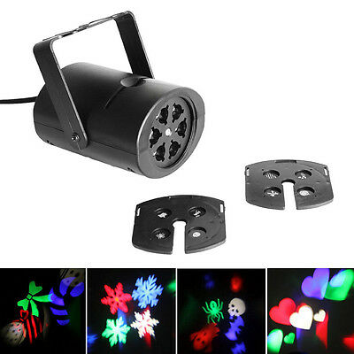 Gobo 8 Patterns RGB LED Laser Projector Stage Light DJ Xmas Party Effect Light
