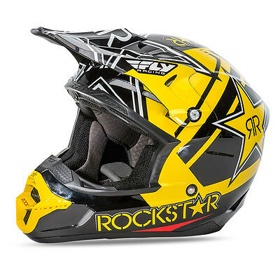 2016 Fly Racing Kinetic Pro Rockstar Energy MX ATV Offroad Helmet ALL SIZES