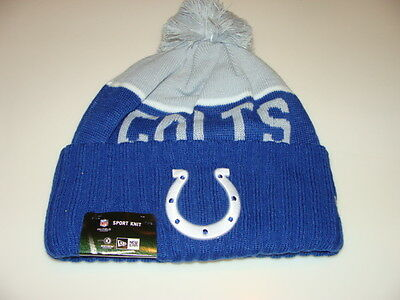 Indianapolis Colts Knit On Field New Era Toque Beanie Player Sideline Hat Cap