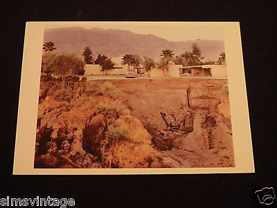 Unusual Weird Postcard After A Flash Flood Rancho Mirage California 1979