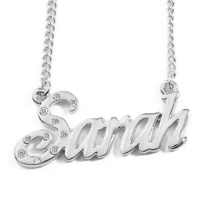 Name Necklace CHRISTINE 18ct Yellow Gold Plated Jewellery Birthday Christmas