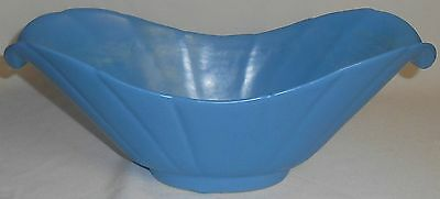 Bauer Pottery BLUE CONSOLE BOWL Los Angeles California GREAT SHAPE!