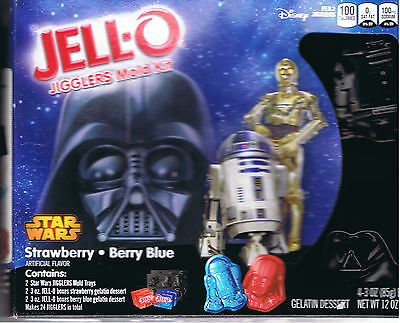 Jello Jigglers StarWars Mold  Kit 2 Trays 4 Gelatin Strawberry Berry Blue Sealed