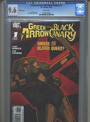 Green Arrow and Black Canary #1 CGC 9.6 (2007) Variant Cover