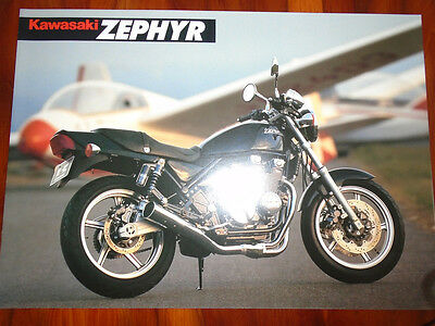 Kawasaki Zephyr Motorcycle brochure 1990's version 1