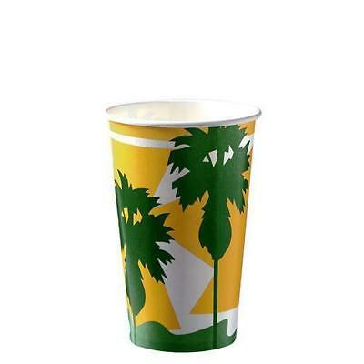50 x Milkshake Cup, 16oz / 488mL, Disposable Cold Drink Paper Cups, Thickshake