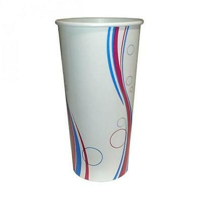50 x Milkshake Cup, 22oz / 625mL, Disposable Cold Drink Paper Cups, Thickshake