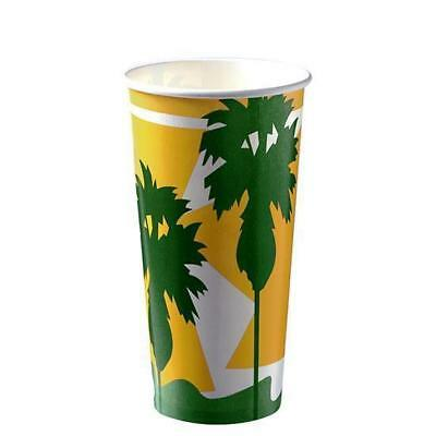 50 x Milkshake Cup, 24oz / 800mL, Disposable Cold Drink Paper Cups, Thickshake