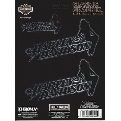Harley-Davidson HD Text With Silhouette Lady Decal