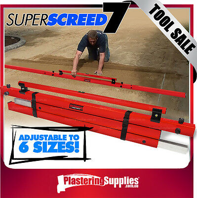 REDBACK Super Screed 7 1 Level | 6 Sizes For Concreters & Landscapers RBKSS7